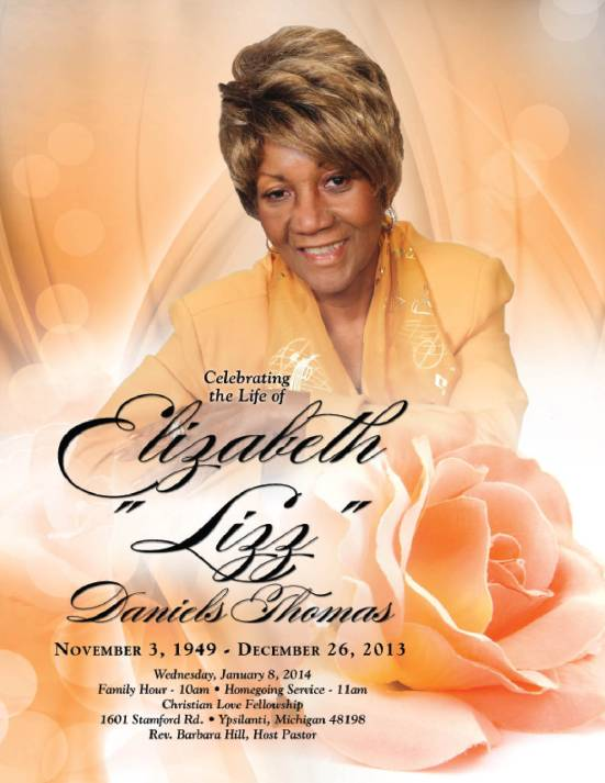 Elizabeth Thomas Homegoing Program